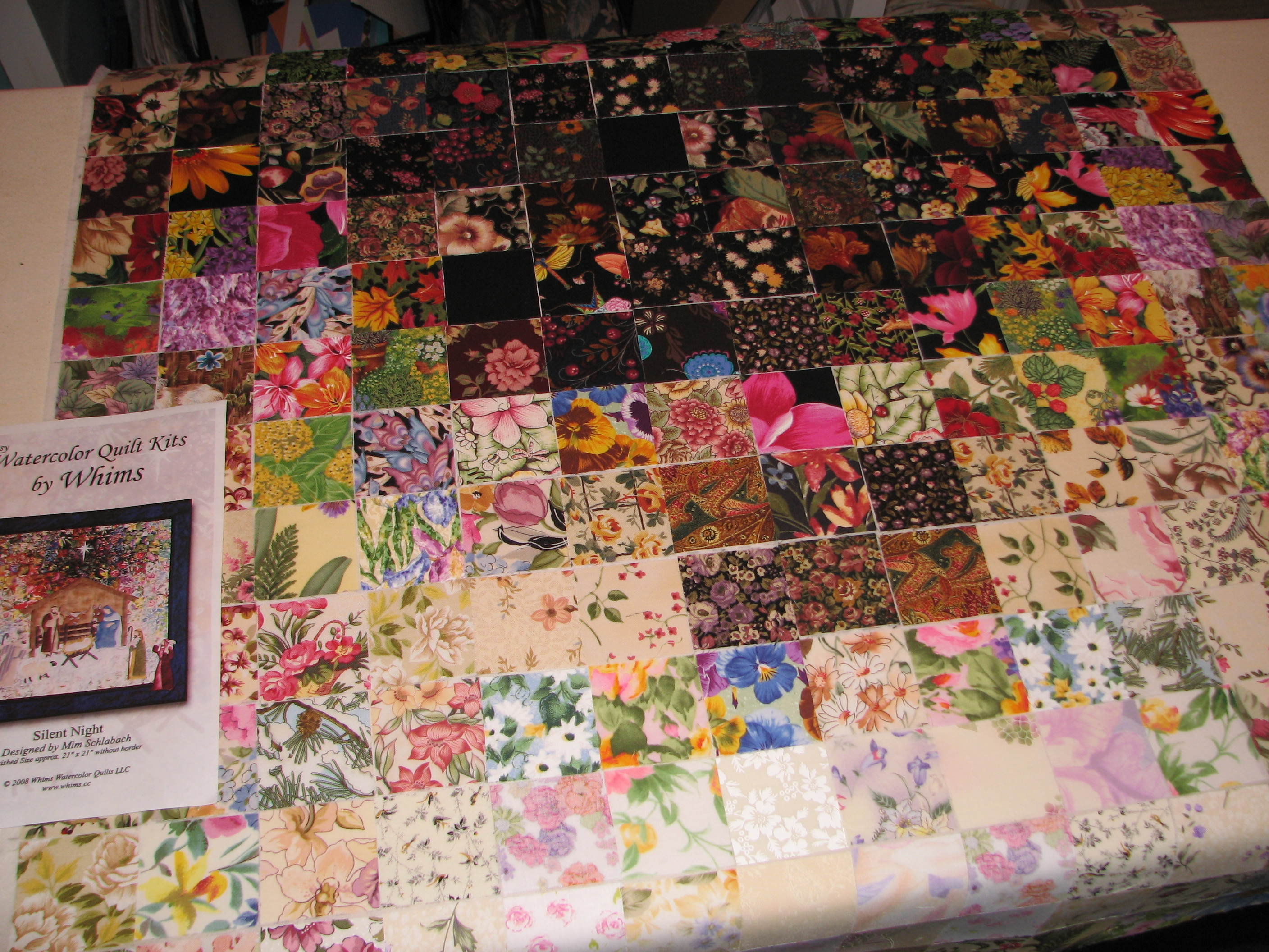 harms quilt barbara fiber art impressionist wildflower img quilts medow watercolor