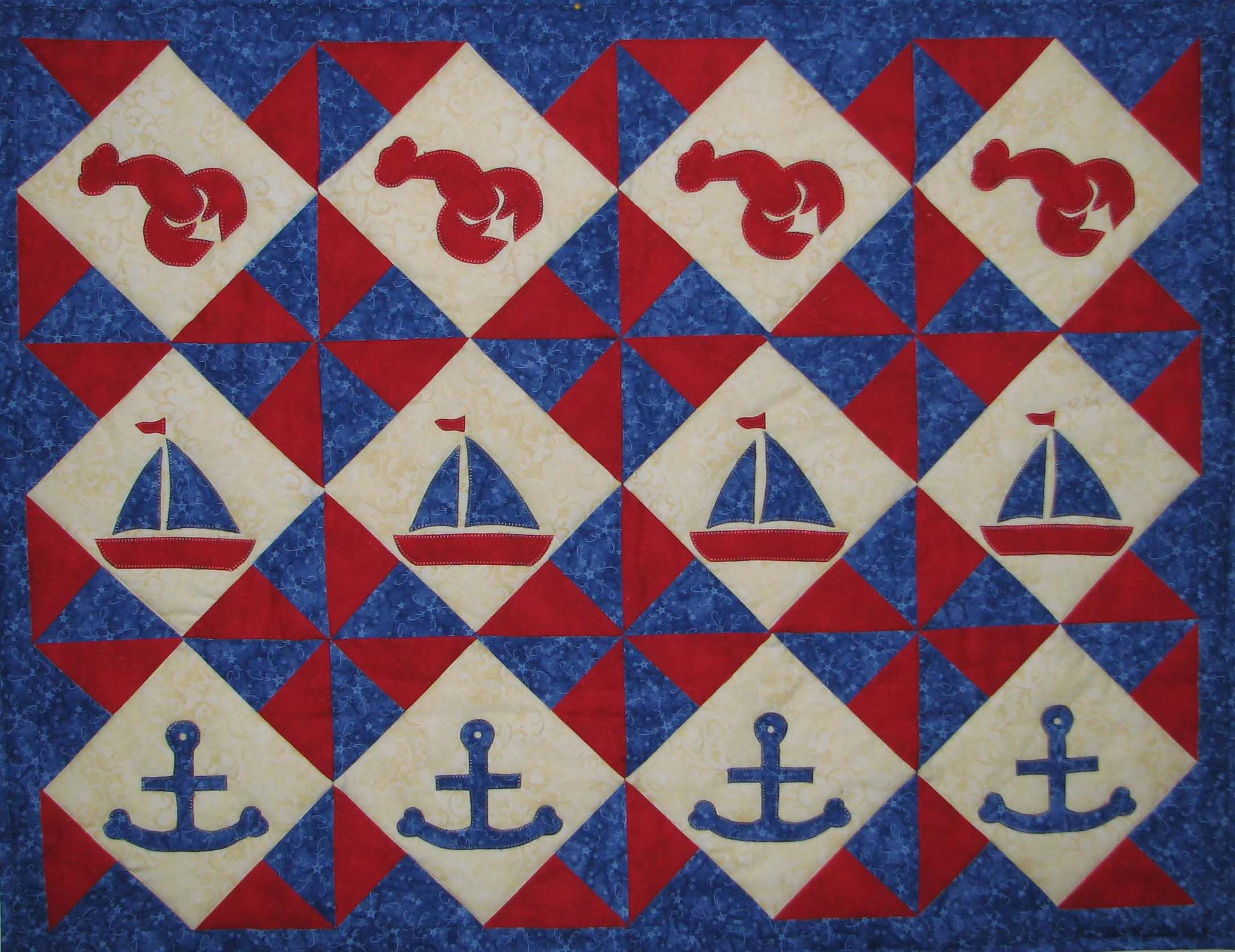 Nautical Table Runner New PDF Downloadable Pattern Quilt Cabana Patterns