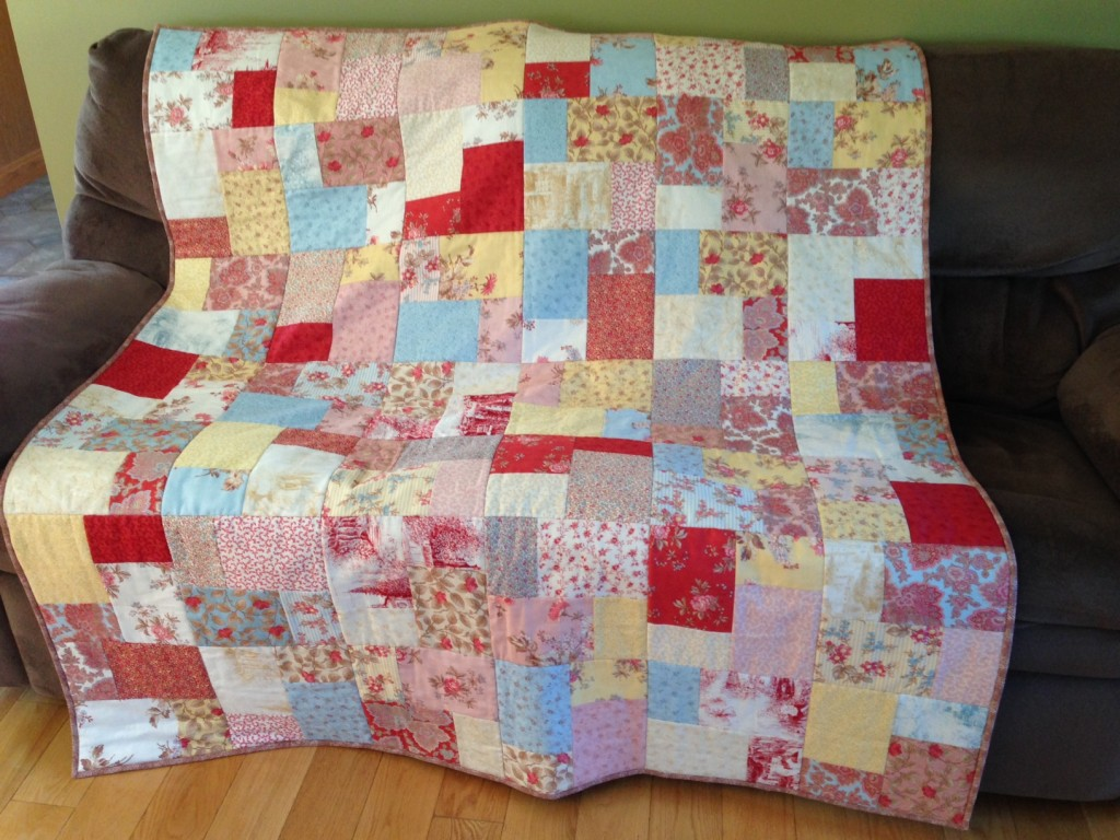 Layer Cake Quilt As You Go : double slice layer cake Quilt Cabana Patterns
