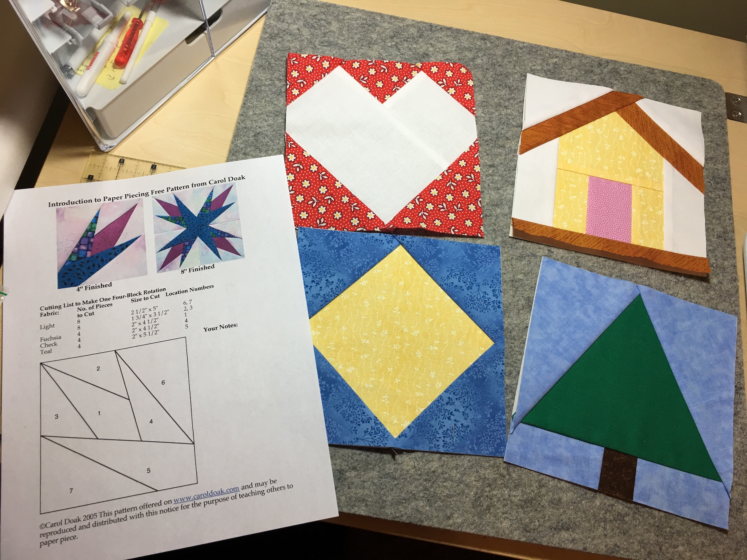 Learning To Foundation Paper Piece Quilt Cabana Patterns